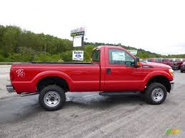 2015 vermillion red ford f250 super duty xl regular cab 4x4