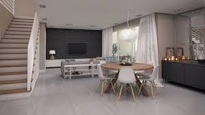 Open Floor Plan Living Room Furniture Arrangement Living Room Empty House Interior With Open Floor Plan Living