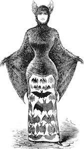 Halloween Costumes Bat Free Vintage Clip Art 2 Victorian Bat Ladies Halloween
