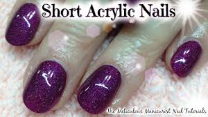 acrylic nails tutorial for beginners short natural acrylics by