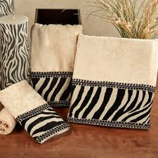 Zebra Themed Bathroom Zuma Zebra Decorative Towel Set