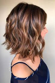 curly lob hairstyle balayage curly lob hairstyles shoulder length hair cuts for