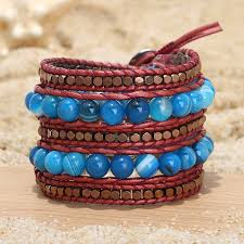 red wrap bracelet images Aobei pearl handmade bracelet made of 8 mm natural stones 3 mm jpg