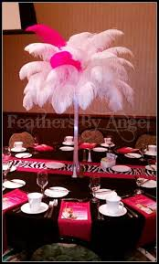 ostrich feather centerpiece feathers by angel rent ostrich feather centerpieces lighting