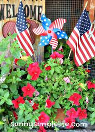 Patriotic Garden Decor Sunny Simple Life Patriotic Garden Ideas Decorating The Old Coop