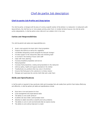 what is a chef de cuisine description resume for chef cook free responsibilities a cook for