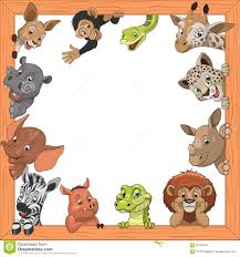 funny kids animals stock vector image 62539530