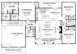 small one house plans with porches a simple one house plan with two master wics big kitchen