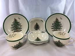 14 spode tree mugs with spoons spode