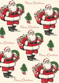 vintage wrapping paper cavallini merry christmas santa decorative wrap vintage wrapping paper