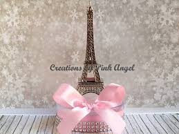 Eiffel Tower Decorations Set Of 3 Small Silver Paris Centerpieces Small Eiffel Tower