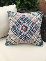 free crochet home decor patterns mosaic cushion by esther dijkstra free crochet pattern