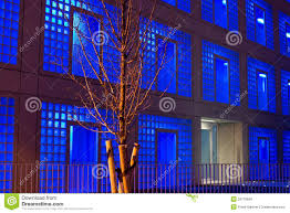 stuttgart public library at night editorial stock image image