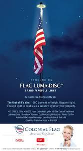 Flag Pole Light The Flag Luma Disc Tm