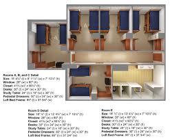 dorm room floor plans carroll hall