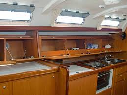 Boat Galley Kitchen Designs Find Storage Space Just By Going Sailing Quinju Com