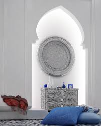 moroccan style interior design like the white silver gray with a