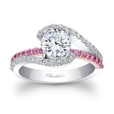 white gold wedding rings for white gold engagement ring with pink sapphires 7848lps