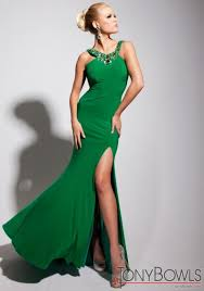 green dress tony bowls evenings emerald green jersey formal dress tbe11338