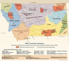 Montana State Map by Montana Tribes
