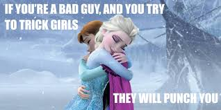 Frozen Movie Memes - 6 year old describes frozen in one perfect sentence photo
