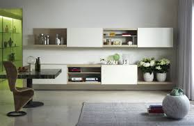 contemporary living room wall unit lacquered wood hi fi