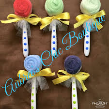 baby shower lollipops crafts diy gifts spoons washcloths aubree u0027s