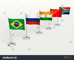 Country Flags Small Brics Small Flags Countries 3d Illustration Stock Illustration