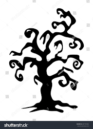 halloween clipart black background halloween creepy scary bare tree vector stock vector 487752382