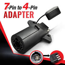 trailer light plug adapter 7 way round to 4 way pin flat trailer light adapter plug connector