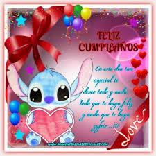 imagenes de feliz cumpleaños amor animadas bonitas imagenes animadas de feliz cumpleaños de stitch imágenes