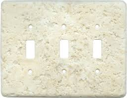 Travertine Switch Plates by Stonique Cameo Light Switch Plates Outlet Covers Wallplates