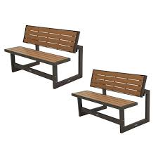 Lifetime Patio Furniture by Lifetime Convertible Patio Bench To Table 2 Pack 60139