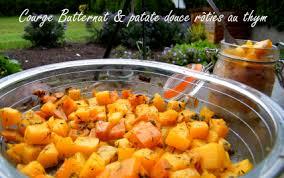comment cuisiner courge butternut recette courge butternut et patate douce rôties au thym 750g