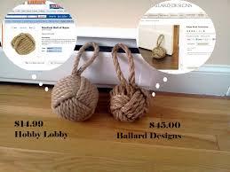 knot doorstop ballard design vrs hobby lobby solar cottage