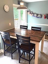 Diy Counter Height Table 5 U0027 Farmhouse Table At Counter Height 36