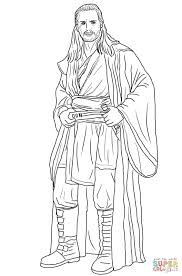 qui gon jinn coloring page free printable coloring pages