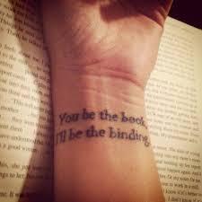 book quote on wrist for tattooshunt com
