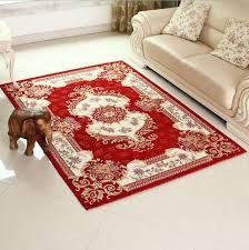 carpet for living room european anti skid red carpet area rug for living room large size