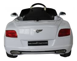 white bentley convertible bentley continental gt licensed 12v electric ride on car white