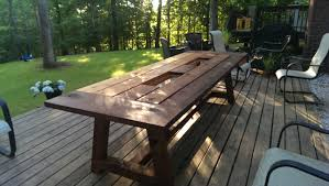 large outdoor dining table accessories find out low cost diy outdoor dining set here make