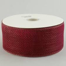 2 5 poly deco mesh ribbon burgundy rs200005 craftoutlet