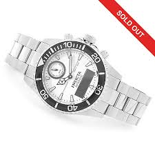 bracelet digital watches images Invicta 43mm pro diver intrinsic quartz analog digital stainless