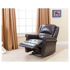 elena leather swivel glider recliner brown abbyson living target
