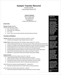 Substitute Teacher Resume Examples by Free Teacher Resume 40 Free Word Pdf Documents Download Free