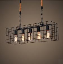 Pendant Lighting Fixtures For Dining Room American Loft Style Hemp Rope Droplight Edison Pendant Light