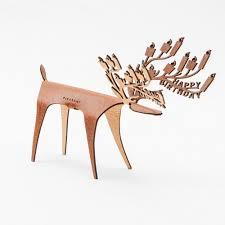 pleasant deer card birthday cow leather greeting card deer