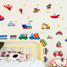 aliexpress com buy kid cartoon car plane wall stickers for kid u0027s