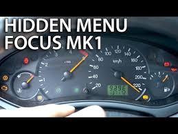 2003 ford focus instrument cluster lights ford focus mk1 hidden menu mr fix info