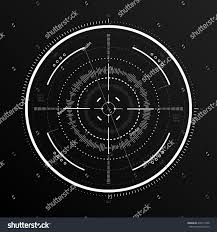 scifi futuristic spaceship crosshair hud user stock vector
